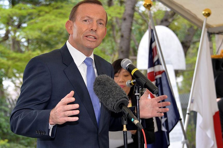 Australian Prime Minister Tony Abbott said on Sunday that he hoped for a quick conclusion to thorny free trade negotiations with Japan but suggested time might be needed to ensure conclusion of a satisfactory pact. -- PHOTO: AFP