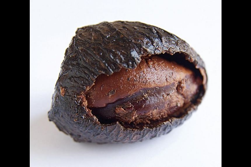 The flesh of the black Indonesian nut. -- PHOTO: CANDLENUT