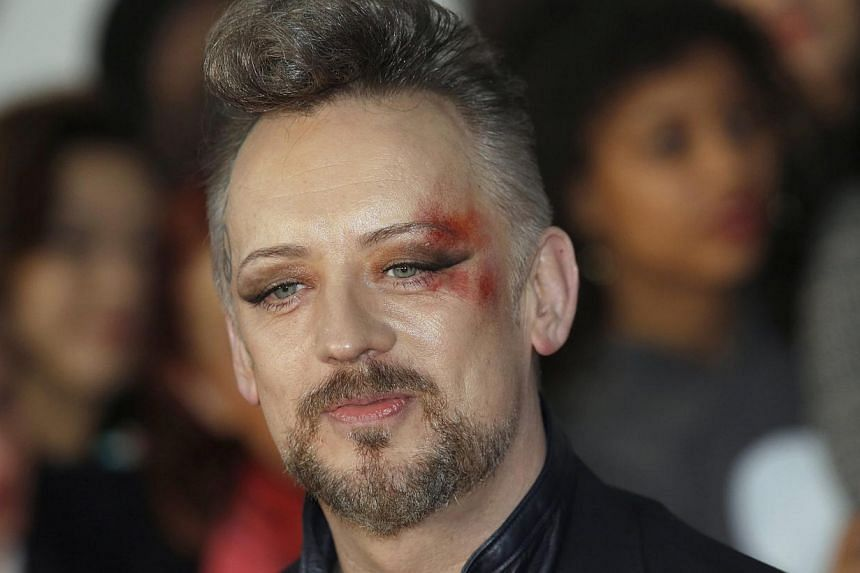 Singer Boy George arrives for the Brit Awards, celebrating British pop music, at the O2 Arena in London on Feb 19, 2014. -- FILE PHOTO: REUTERS