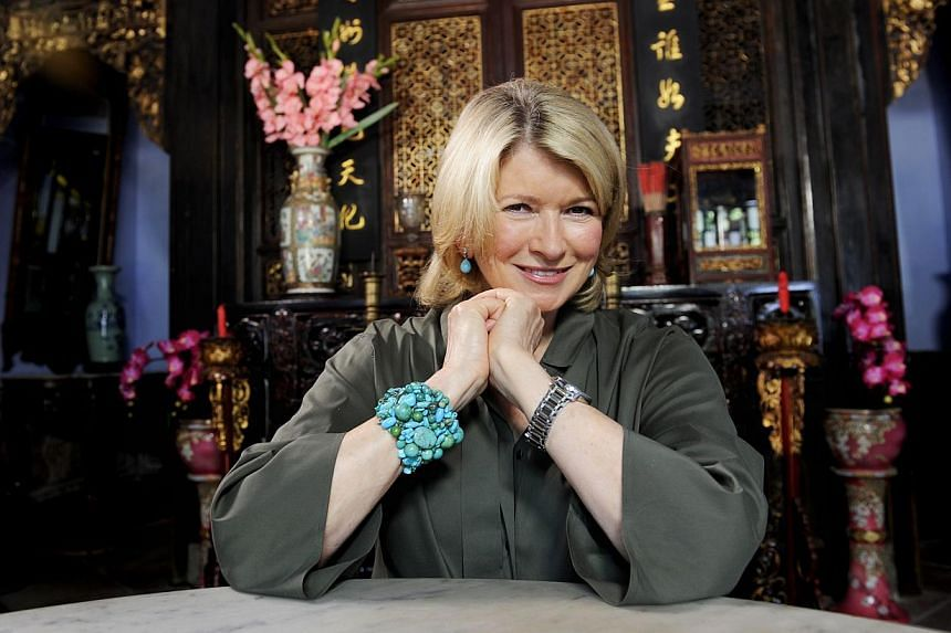 Martha Stewart, who is in town filming her TV series. -- ST FILE PHOTO: BRYAN VAN DER BEEK