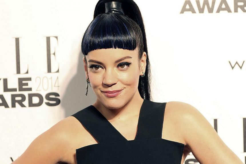 Singer Lily Allen arrives at the Elle Style Awards in London on Feb 18, 2014. -- FILE PHOTO: REUTERS