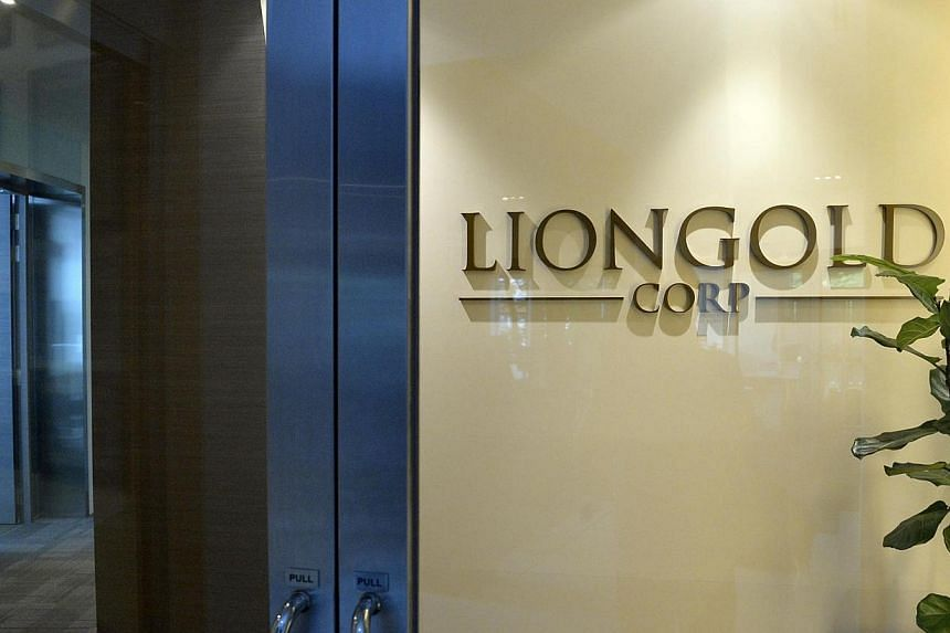 The entrance of LionGold Corporation office at Central Plaza.The police have impounded the passports of at least three corporate executives as they continue to probe into last October's penny stock crash. -- ST FILE PHOTO:DESMOND FO