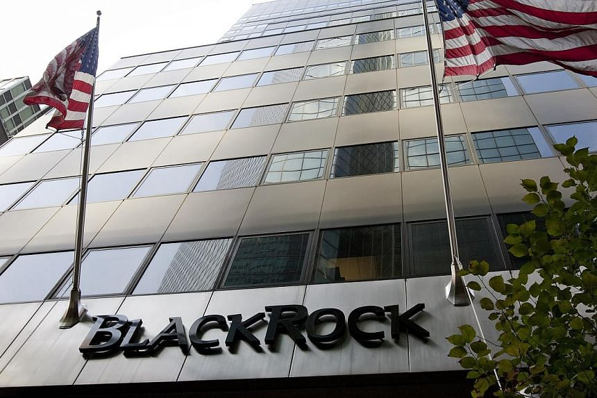 New York-based BlackRock, which manages US$4.3 trillion (S$5.4 trillion) in assets, is shifting at least 10 senior executives into new or expanded roles. -- FILE PHOTO: BLOOMBERG