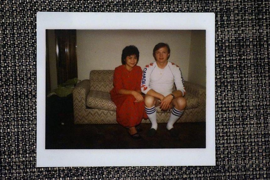 An old photo Ms Turzynski has of her parents, Singaporean Lee Kui Yin and Kazimierz Turzynski. -- ST PHOTO:JEREMY AU YONG