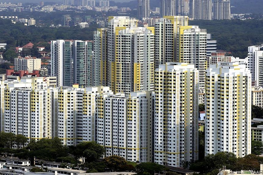 There were 1,319 resale flats changing hands in March - the highest volume since last October. -- ST FILE PHOTO:CHEW SENG KIM