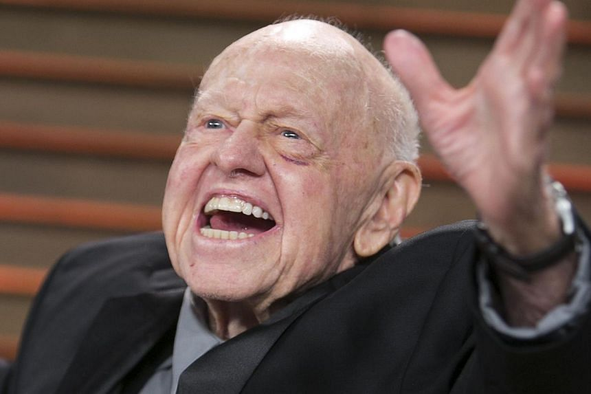 Mickey Rooney at the Vanity Fair Oscar Party on March 2, 2014 in West Hollywood, California. -- FILE PHOTO: AFP