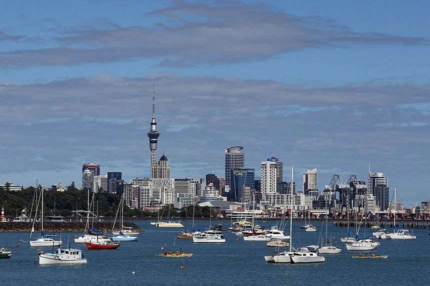 There were signs that activity was slowing in the biggest city Auckland, which had been driving national figures. -- FILE PHOTO: AFP