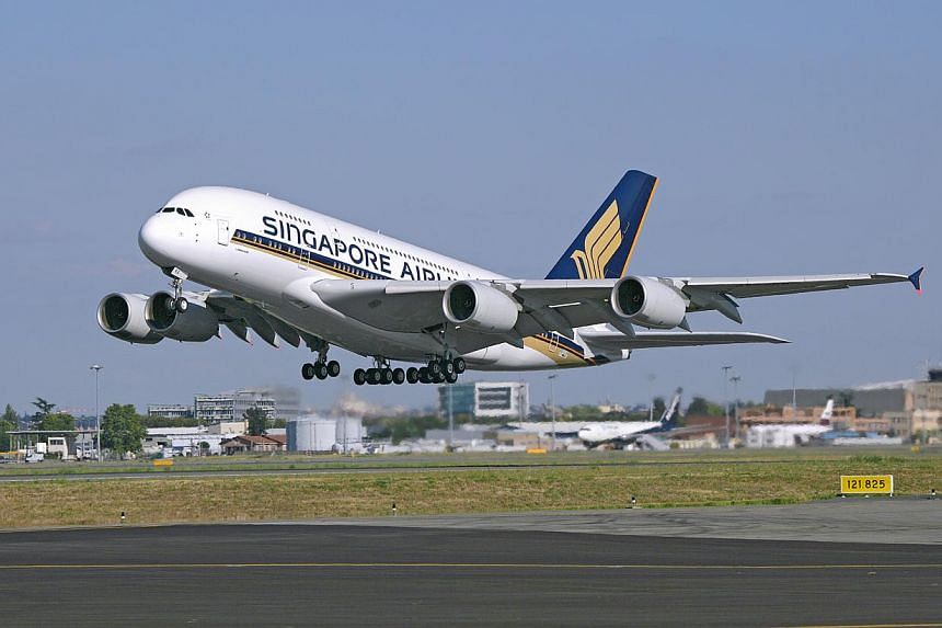 Singapore Airlines will fly the Airbus 380 superjumbo to the Indian cities of Mumbai and New Delhi from May 30. -- FILE PHOTO: SIA