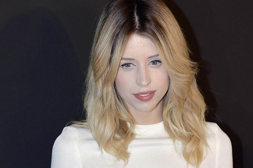 In a file picture taken on Feb 25, 2014, British TV host and model Peaches Geldof poses prior to the start of the Etam 2014/2015 Autumn/Winter collection fashion show, in Paris.-- PHOTO: AFP
