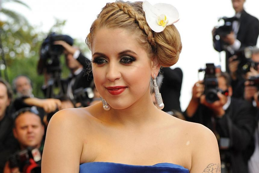 In a file picture taken on May 22, 2009, British Peaches Geldof arrives for the screening of the movie The Imaginarium of Doctor Parnassus by British Terry Gilliam presented out of competition at the 62nd Cannes Film Festival. -- PHOTO: AFP