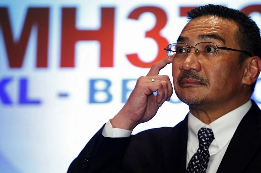 Malaysia's acting Transport Minister Hussein answers questions during a news conference about missing Malaysia Airlines MH370 plane at Kuala Lumpur International Airport.In the days after the Malaysia Airlines flight MH370 vanished, Datuk Seri