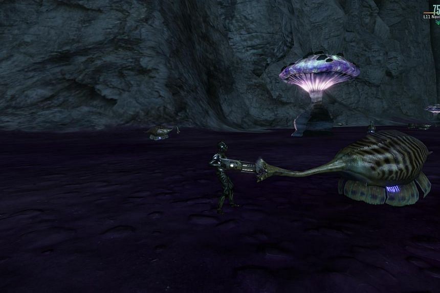 A screen shot of Planet Arkadia, where players can purchase property of underground caverns. -- PHOTO: ARKADIA