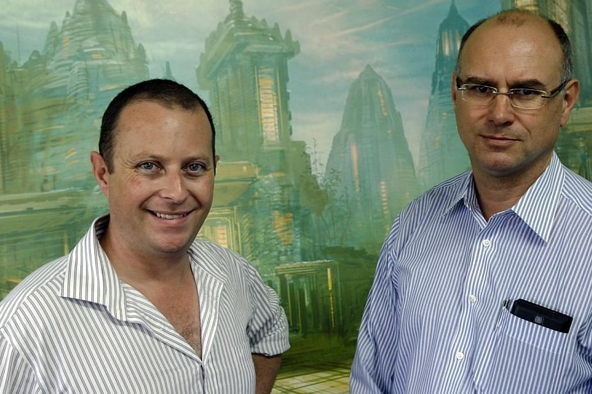 Arkadia Studios chief executive David Dobson (left), 38, and chairman Peter Dobson, 50.-- ST FILE PHOTO: TEE ZHUO