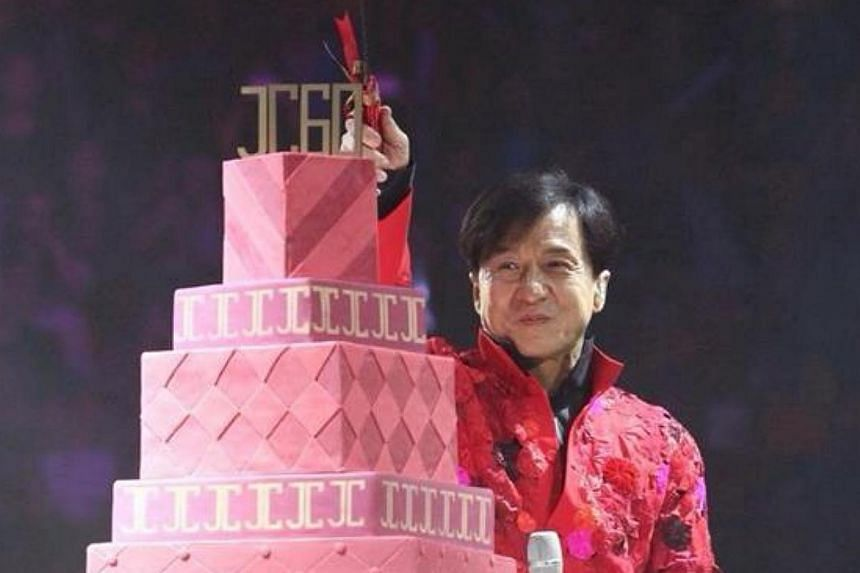 The action superstar, Jackie Chan, hosted a charity banquet at JW Marriot Hotel Beijing to celebrate his birthday, said NetEase website. -- PHOTO: JACKIE CHAN/ FACEBOOK