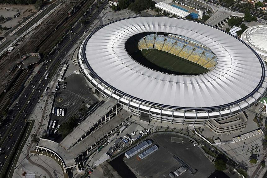 An aerial shot shows the Maracana stadium, one of the stadiums hosting the 2014 World Cup football matches, in Rio de Janeiro March 28, 2014. The Straits Times, in partnership with McDonald's/Fifa World Cup Player Escort Programme, will be sendi