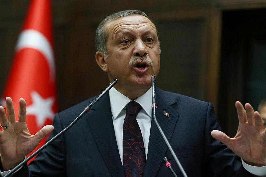 """Turkish Prime Minister Tayyip Erdogan said on Tuesday, April 8, 2014, local elections had given him a mandate to """"liquidate"""" the enemies he sees as contriving a corruption scandal and would go after their international activities and sources of fundi"""