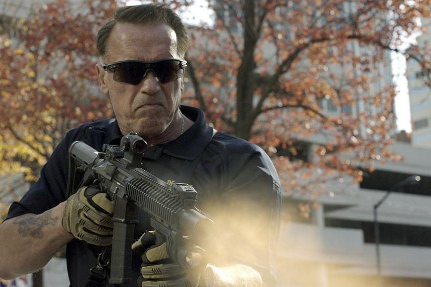 Cinema still: Sabotage starring Arnold Schwarzenegger. -- PHOTO: GOLDEN VILLAGE