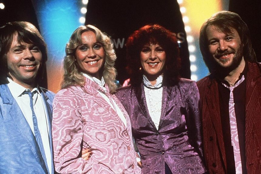 Music Group: Abba's album, The Singles, is ranked No. 80 in the recently-publishedSpin Alternative Record Guide.[Music group, Abba]The Swedish pop group that made spangled bell bottoms and platform boots big in the 1970s celebrated its 40