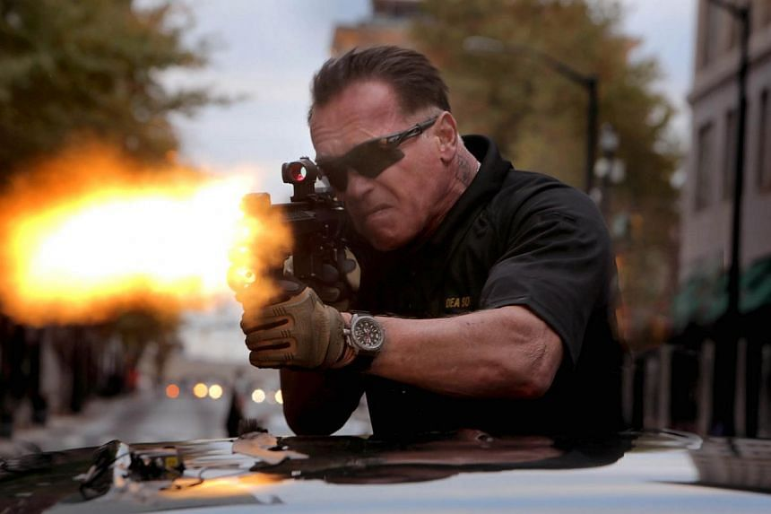 Comeback action star Arnold Schwarzenegger does many of his own stunts in Sabotage.