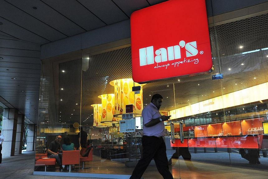 Japanese restaurant Han, which opened in 2012, specialises in kushikatsu or skewers of deep-fried food, and is located at Odeon Towers. It is owned by Gusttimo World.  Han's Cafe, which has 21 outlets in Singapore selling Hainanese and Western food,