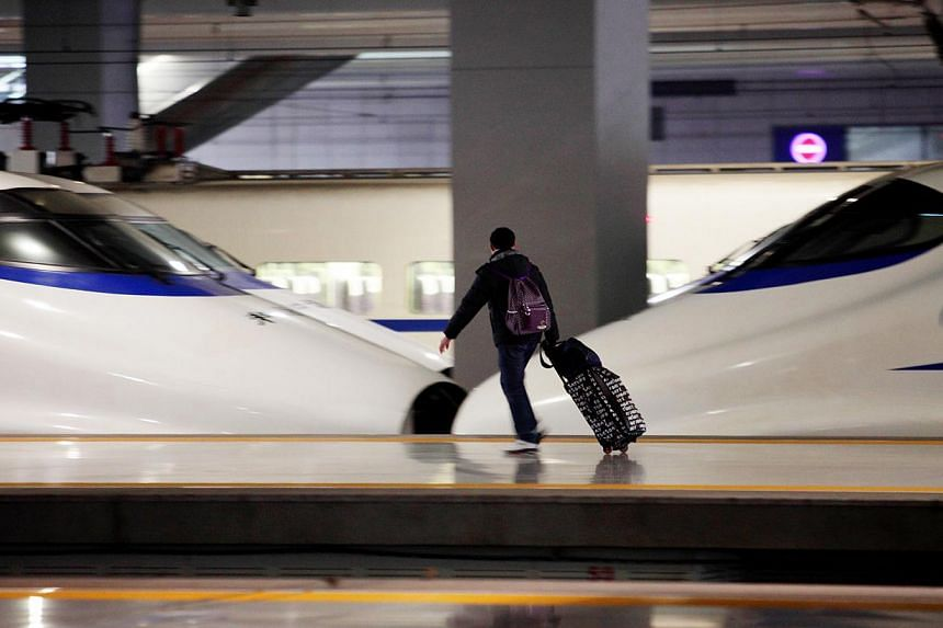 China, which has the world's longest high-speed rail network (above),  began planning for the  system  only in the early 1990s.