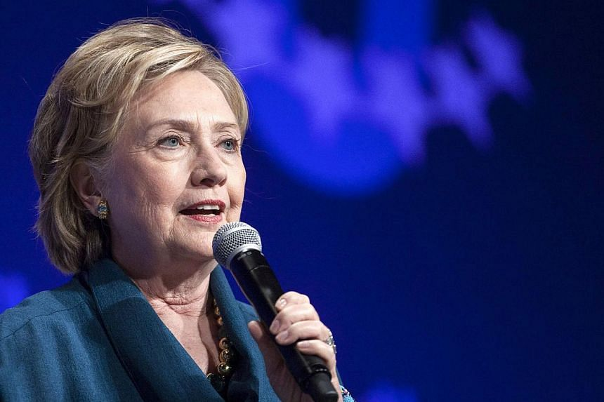 """I'm actually here trying to get some marketing advice,"" Mrs Clinton quipped when asked if she was running for president. -- FILE PHOTO: REUTERS"
