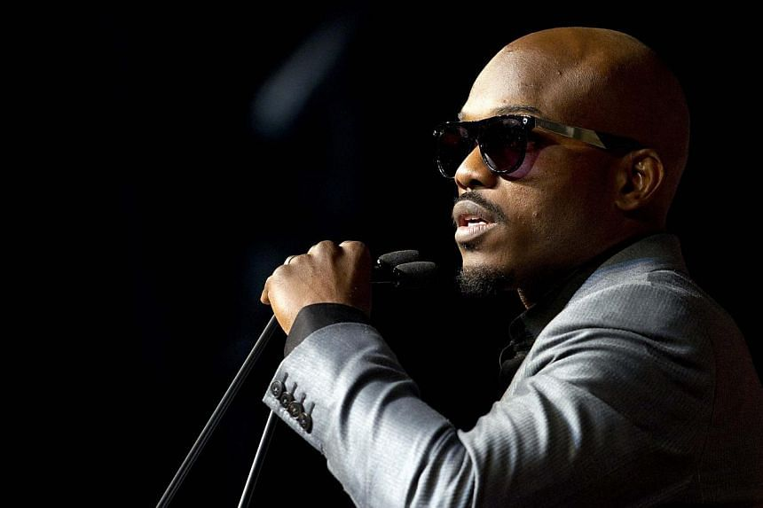 Undefeated WBO welterweight champion Timothy Bradley of the US speaks during a news conference at the MGM Grand Hotel and Casino in Las Vegas, Nevada on April 9, 2014. -- PHOTO: REUTERS