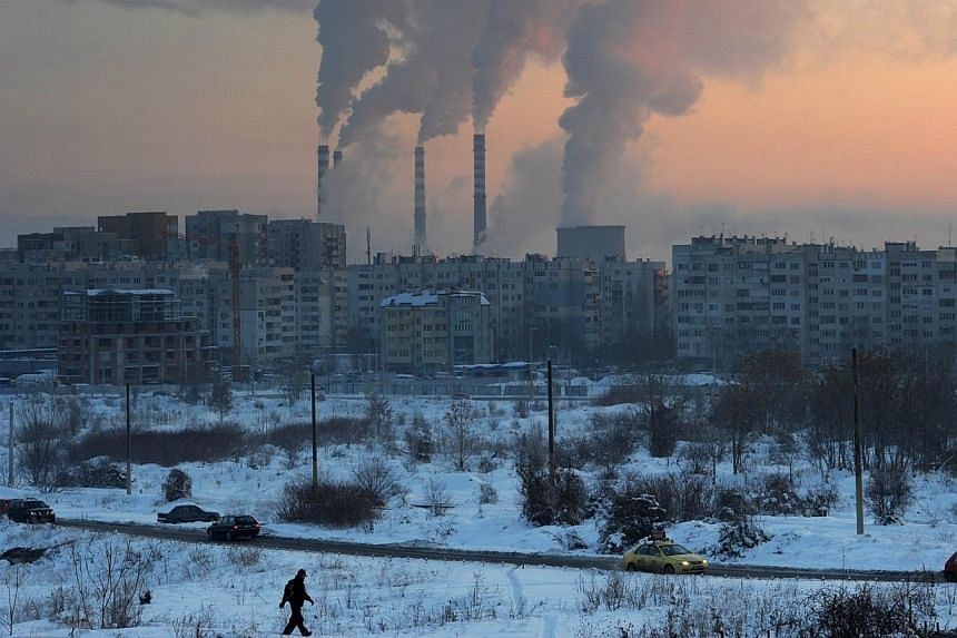 A thermal power station in Sofia, Bulgaria. -- FILE PHOTO: AFP