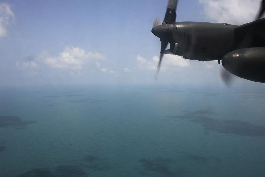 The view of the South China Sea from an Republic of Singapore Airforce C-130 deployed to help search for the missing MH370 plane on March 9, 2014.-- ST FILE PHOTO: DESMOND LIM