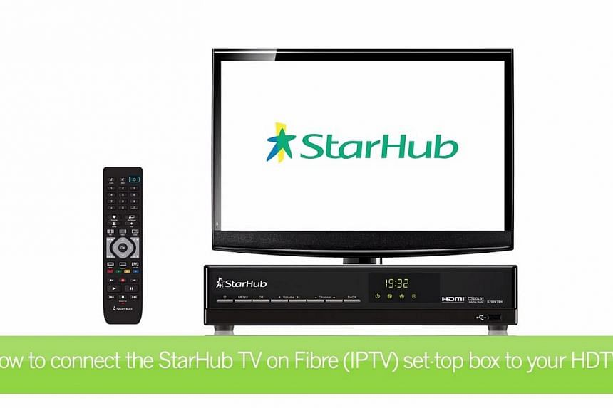 A screen capture of StarHub's guide for setting up a pay-TV service on fibre broadband. -- PHOTO: YOUTUBE