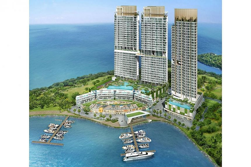 Artist's impression of Puteri Cove Residences in Puteri Harbour.-- FILE PHOTO: PACIFIC STAR GROUP