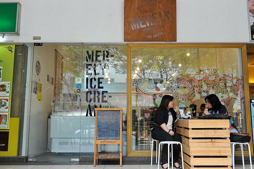 Merely Ice Cream.-- PHOTO: LIM YAOHUI FOR THE STRAITS TIMES