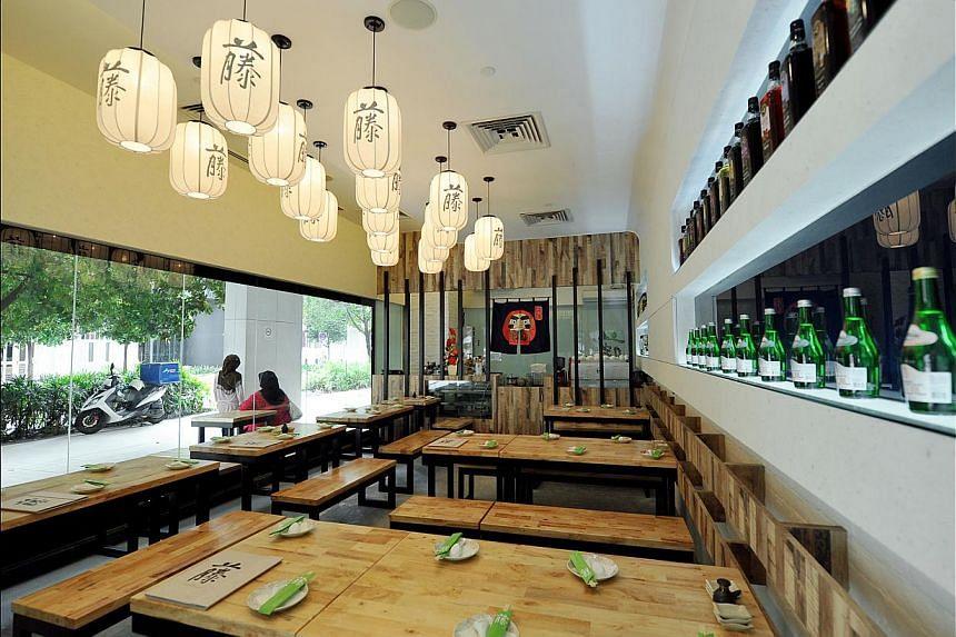 Teng Bespoke Japanese Vegetarian Dining.-- PHOTO: LIM YAOHUI FOR THE STRAITS TIMES