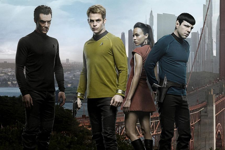 Some of the cast members for the movie Star Trek Into Darkness. Fans of Star Trek will soon be able to follow the adventures of the crew of the USS Enterprise in their favorite films as the popular franchise goes where it has never gone before, with