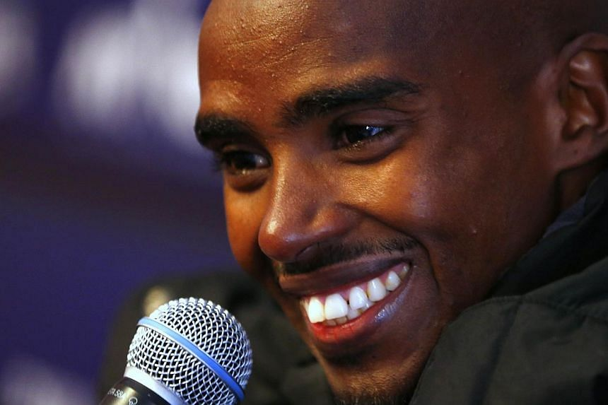 Double Olympic gold medallist Mo Farah makes his London Marathon debut on Sunday with the British record, rather than outright victory, in his sights. -- FILE PHOTO: AFP