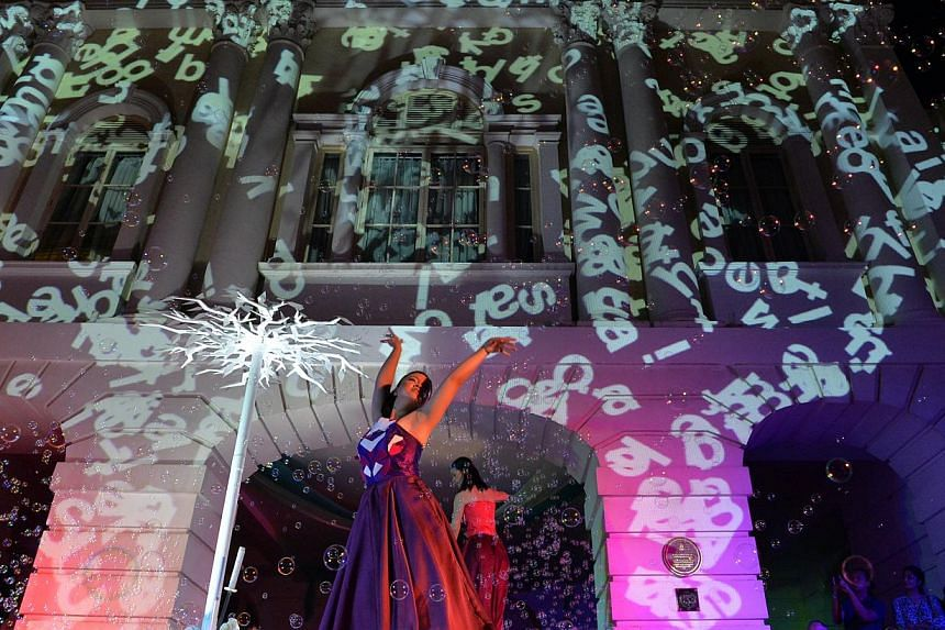 A performance by Cake Theatrical Productions with an outdoor projection show by Brian Gothong Tan, part of The Arts House's 10th anniversary celebrations last month. But a new management also brings fresh questions about what will become of Singapore