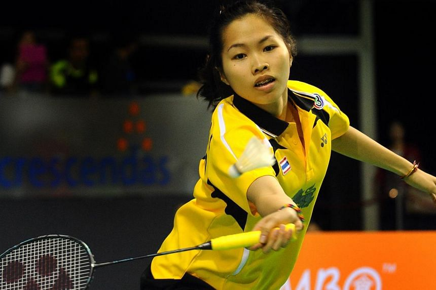 Though Ratchanok Intanon could not put up much of a fight against Han Li, her coach is pleased that she is rebounding from a calf injury. -- PHOTO: XINHUA