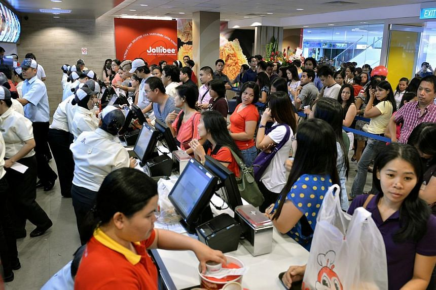 Fast-food restaurant chain Jollibee from the Philippines has an outlet at Lucky Plaza. -- PHOTO: ST FILE