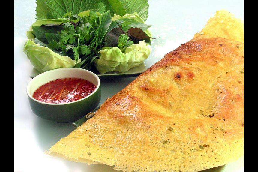 Vietnamese crispy pancakes. -- PHOTO: WRAP & ROLL