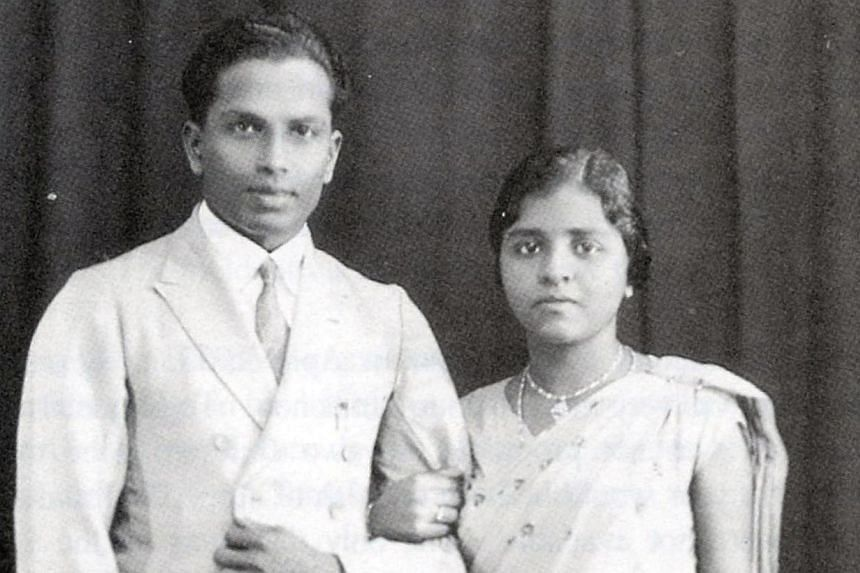 The Ambiavagars in a photo taken shortly after their marriage in 1933. -- PHOTOS: MARK CHEONG, COURTESY OF MRS AMBIAVAGAR