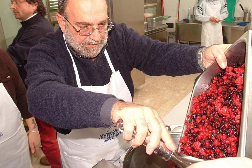 Carpigiani Gelato University in Bologna, Italy, teaches students to make gelato using ingredients ranging from fruit to alchohol. -- PHOTO: CARPIGIANI GELATO UNIVERSITY