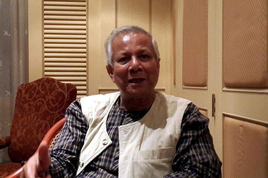 """""""We are taught to be selfish, that money drives the world,'' says ProfMuhammad Yunus. Nobel Laureate Muhammad Yunus, founder of the fabled Grameen Bank which has empowered many thousands of poor people in his native Bangladesh and now has"""