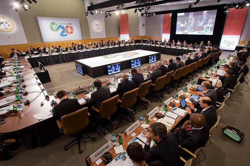 This IMF handout photo shows Governor of the Bank of England Mark Carney as he speaks at the G20 meeting at the IMF/World Bank Spring Meetings on April 11, 2014, at the IMF Headquarters in Washington, DC. Reforms to the International Monetary Fund ha