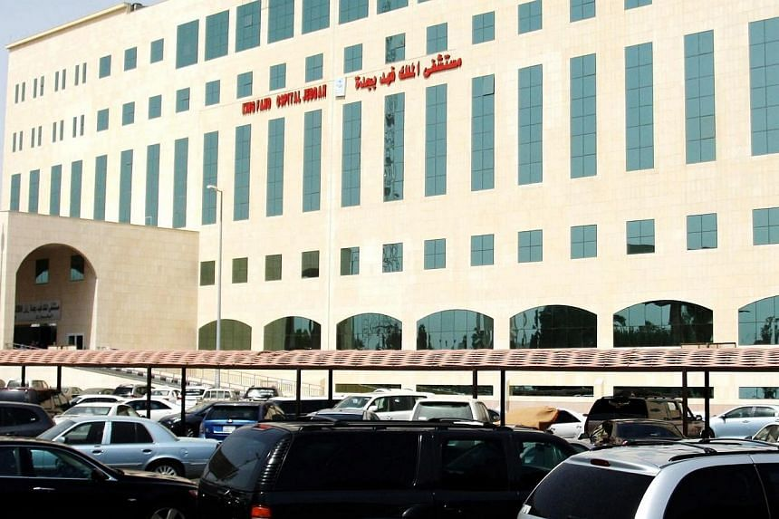A view of the King Fahd hospital which has closed its emergency department banning the exit and entry of people and patients, on April 9, 2014, in Jeddah.A foreigner has died from Mers while eight people including five health workers have been
