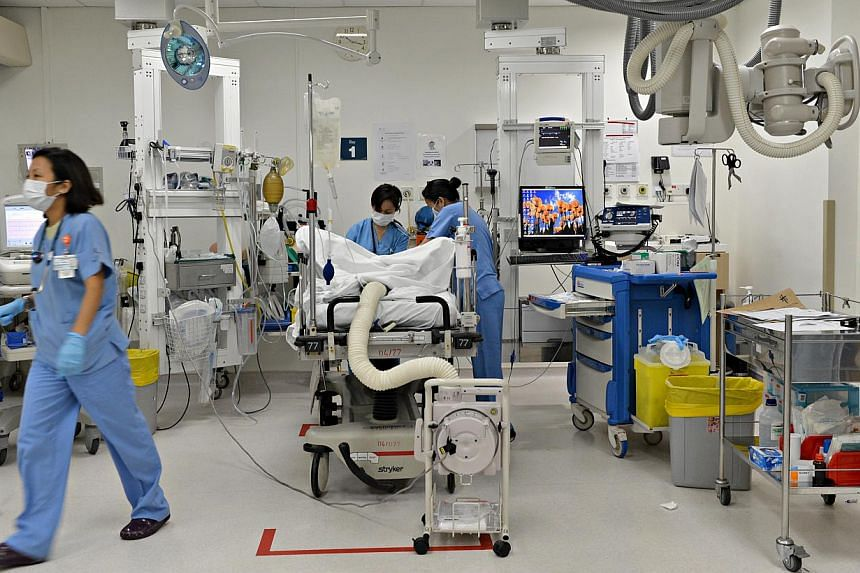The trauma centre at Tan Tock Seng Hospital, the busiest emergency department in Singapore. -- ST FILE PHOTO: NURIA LING