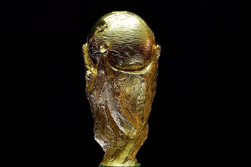 The FIFA World Cup trophy is seen in Westfield shopping centre in west London on March 14, 2014, as part of its world tour ahead of the Brazil 2014 World Cup finals this summer.Public Service Broadcast(PSB) funds are not being used to sponsor t