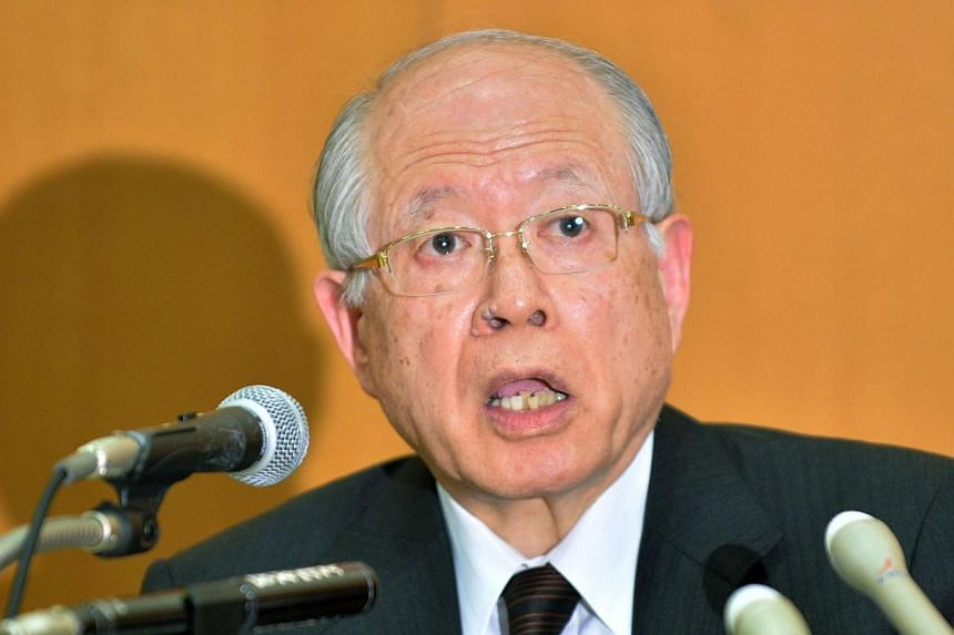 Riken institute head, Ryoji Noyori, who jointly won the Nobel Prize for chemistry in 2001, answers questions during a press conference in Tokyo on April 1, 2014. A publicly-funded research institute in Japan, already embattled after accusing one of i