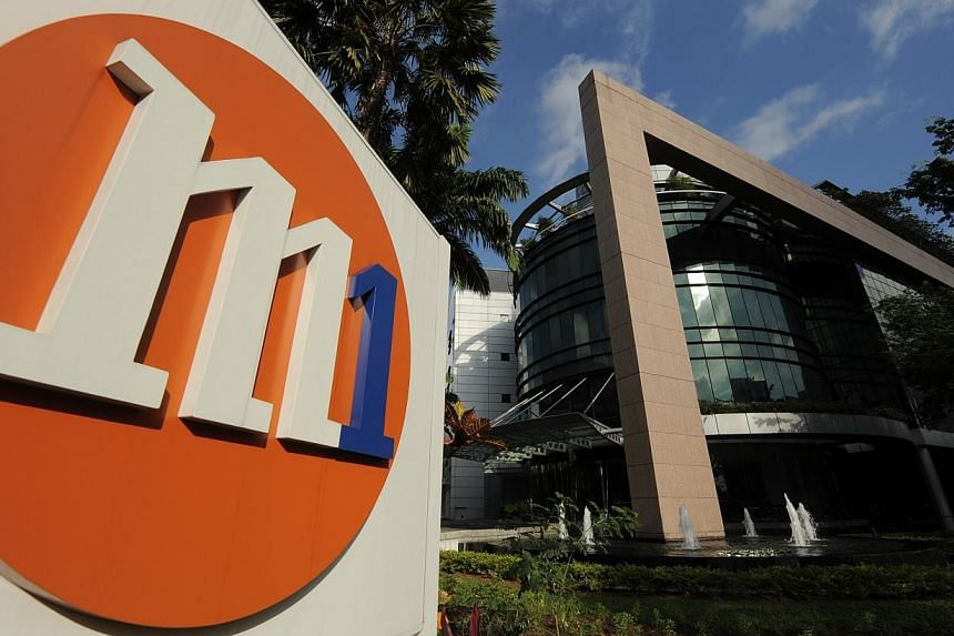 Earnings for Singapore's smallest telco M1 grew in the first quarter of the year, despite a dip in its turnover. -- ST PHOTO:M1 LIMITED