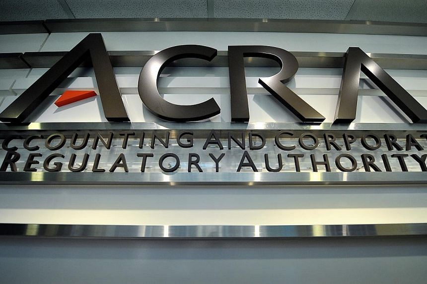 The Accounting and Corporate Regulatory Authority (ACRA) logo at their office in International Plaza located at 10 Anson Road, taken on Aug 14, 2012. Regulators are stepping up action against company directors who have failed to comply with the
