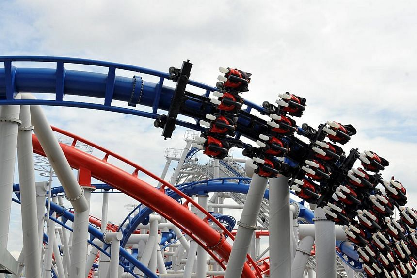 The Amusement Ride Safety Act, which came into force in 2011, when more amusement parks, such as the Universal Studios Singapore which houses the Battlestar Galatica (above), were being built here.-- ST FILE PHOTO: STEPHANIE YEOW